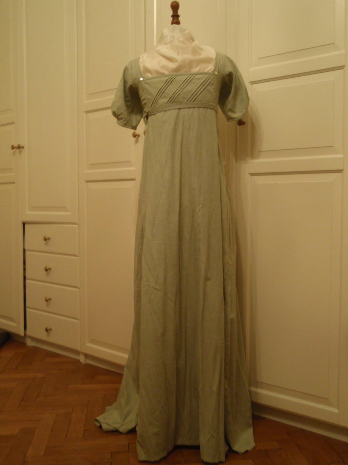 Godiva\'s Wardrobe: Green regency drop-front dress
