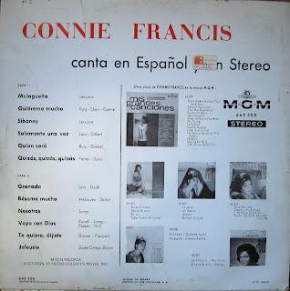 Connie Francis En Espaol y Stereo