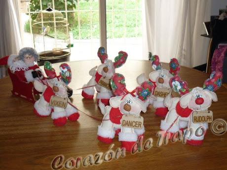 Papá Noel-Mamá Noela y los renos