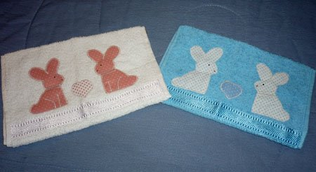 Toallas infantiles con bordado de aplicación