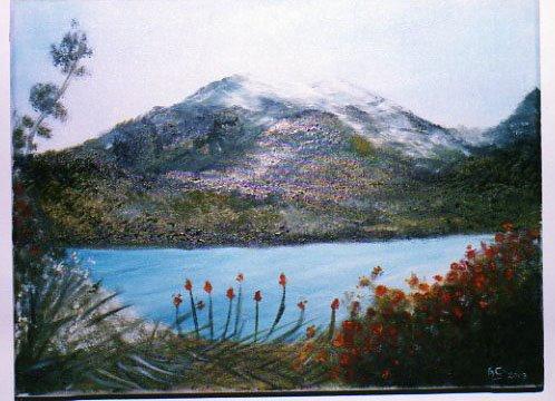 Óleo pintado de una fotografía