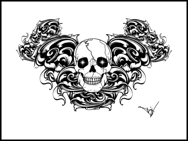 skull tattoo design. Labels: Gothic skull tattoo