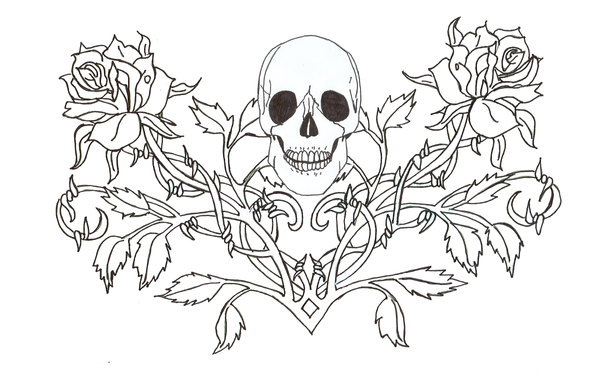 Skull Tattoo Coloring Pages