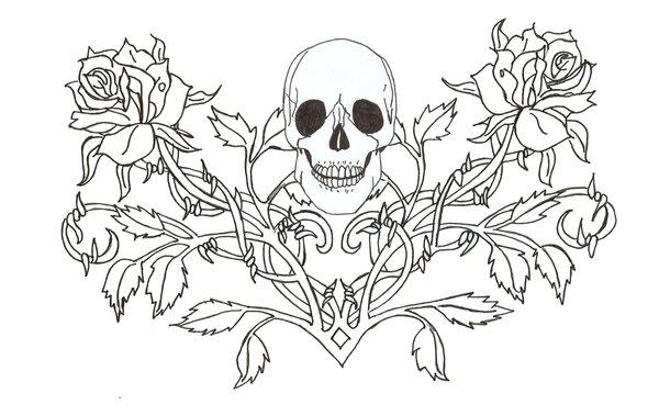 Description Gothic Girl Tattoo Stencils