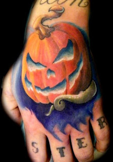 pumpkin lantern tattoo