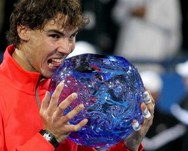 Первая ракетка мира и лучший спортсмен по итогам 2010 года испанец Рафаэль Надаль