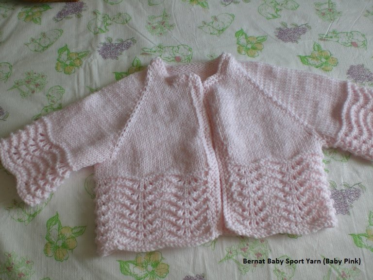 Luvsknitting Feather And Fan Baby Sweater
