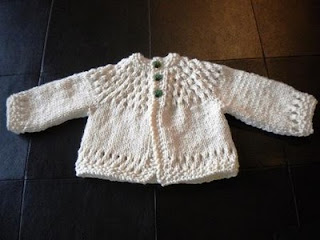 Chunky Knit Baby Cardigan Pattern Free : The Createry Shop: Beautiful Baby Cardigan - Free Knitting Pattern