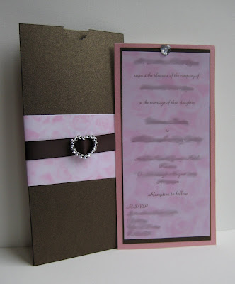 Chocolate Brown Baby Pink Wedding Invitations