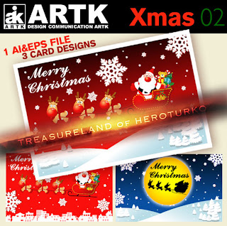ARTK Design - Xmas 02 - Christmas Post Cards
