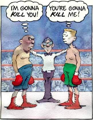 cartoon boxer