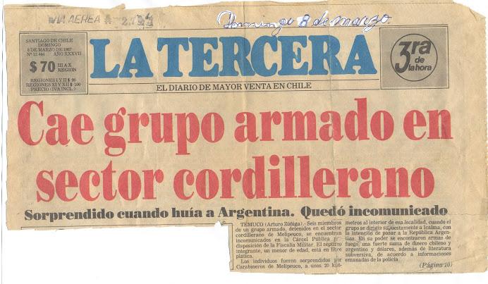 GUERRA DE BAJA INTENSIDAD- OPERACIÓNES DE TERRORISMO MEDIATICO DE FF.AA CONTRA KUPAL LONCÓN MELLADO