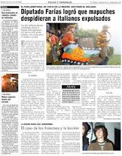 """Periodista chileno detenido en la Araucanía acusado de """"invadir propiedad privada""""- 20-05-09"""