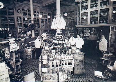 La Martona. Foto de 1908. Esta empresa tenia locales similares en distintos barrios de la Capital y del Gran Buenos Aires.