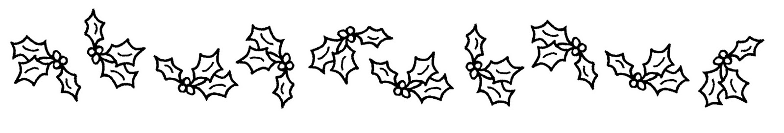 christmas holly border coloring pages - photo#13