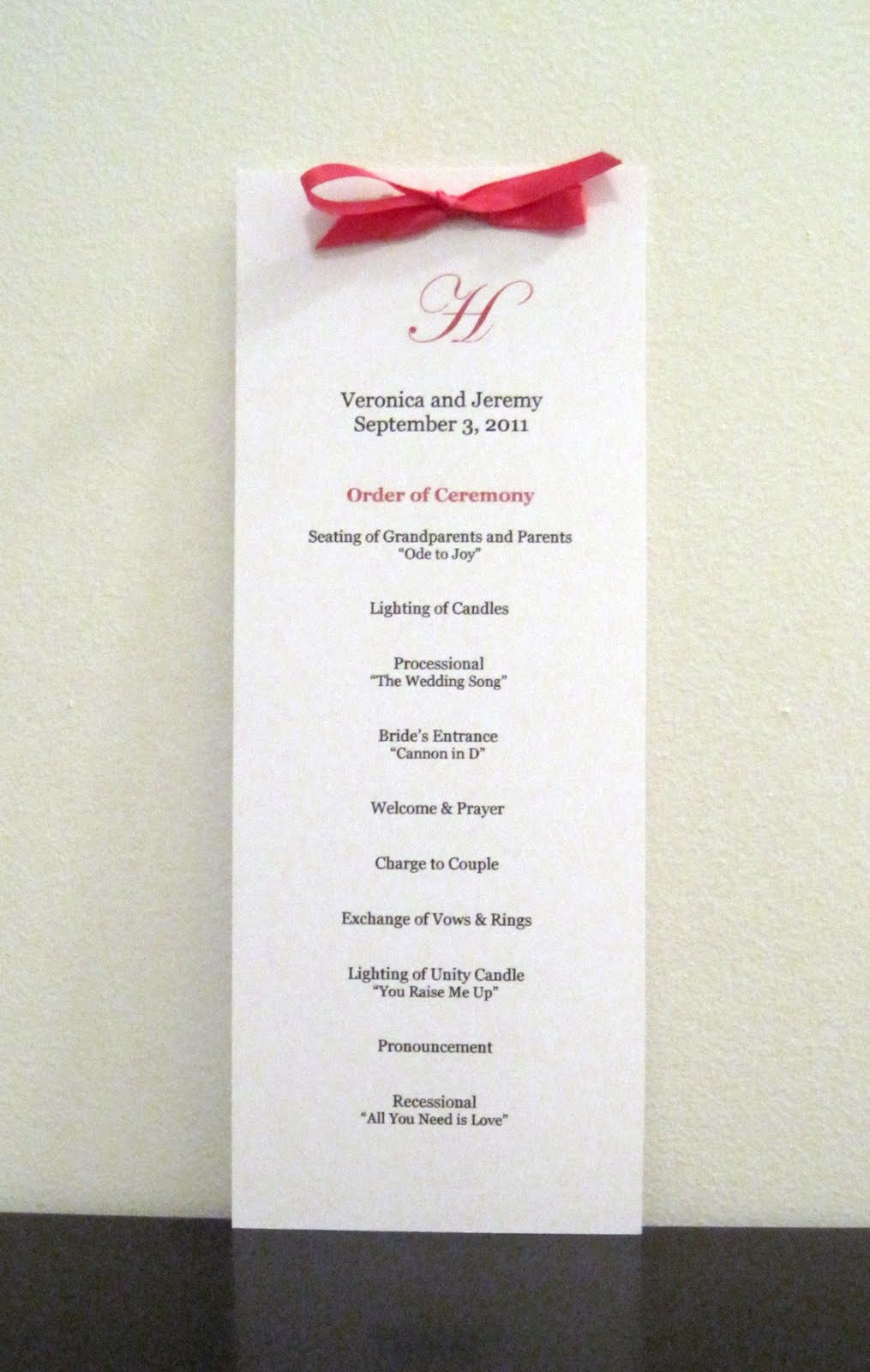 A to z wedding stationery now available two new wedding ceremony tall border wedding ceremony program junglespirit Gallery