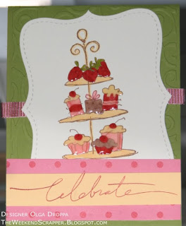 Tier of Treats, Stampendous, card, handmade, birthday, celebration, Crystal Effects, cake, chocolate, treats, stamping