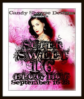 Promotion for the Candy Shoppe Sweet 16 Blog Hop