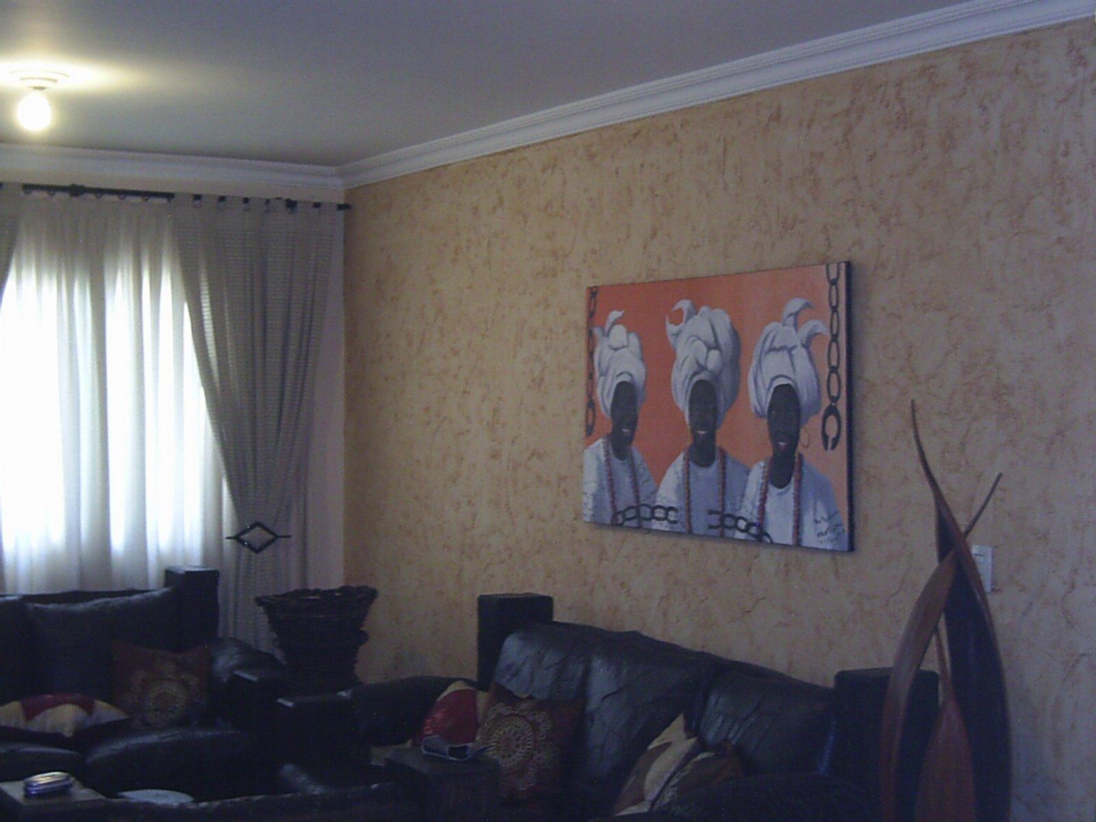 Ox pinturas residenciais e comerciais grafiatos for Sala de estar rustica