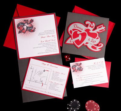 Best descirbed as tattoo style this invite is a fun way to express your