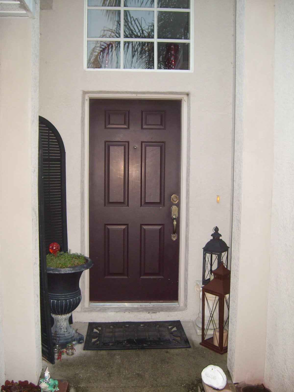 And Then She Said Blog Blog Before After Front Door Makeover