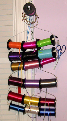 curling ribbon storage organization
