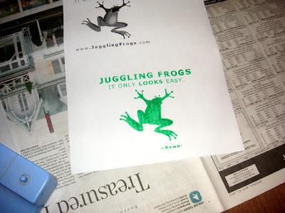 Juggling Frogs: making Gocco t-shirts
