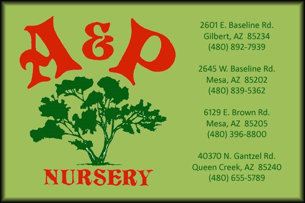 A &amp; P Nursery