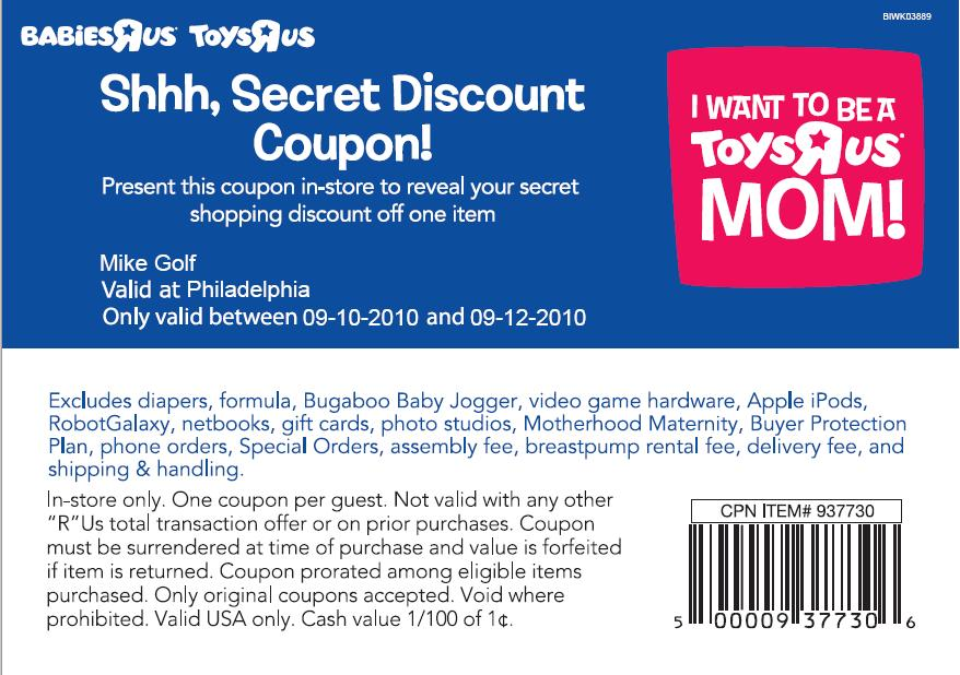 graphic about Printable Toys R Us Coupon identify Infants r us 20 - Salon de nails