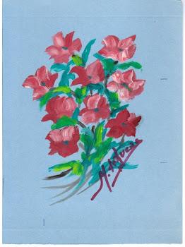 """""""Ramo de flores"""", óleo sobre cartulina, por Milagros de Lucas Linacero"""