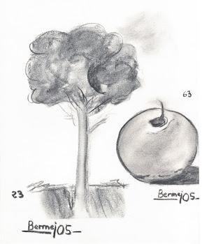"""""""Arbol y fruta al carboncillo"""", por Antonio"""