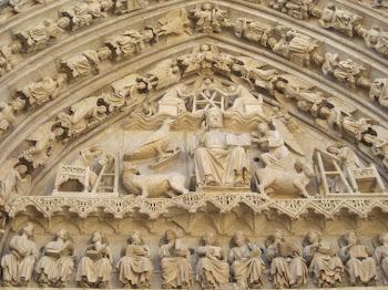Tímpano gótico de la Catedral de Burgos