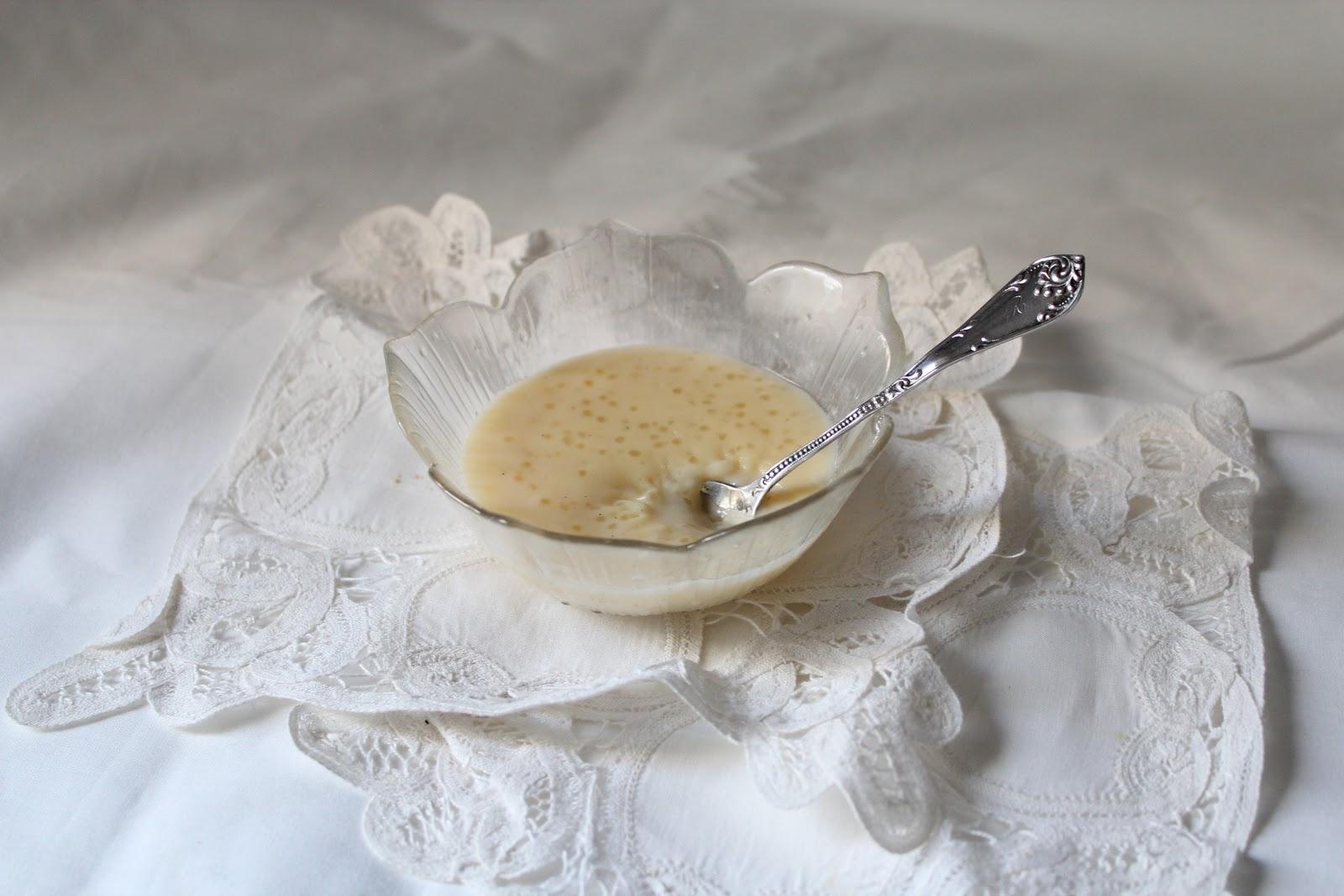 fleur du poirier -: homemade tapioca pudding // pouding au tapioca