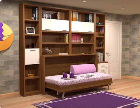 Muebles juveniles dormitorios infantiles y habitaciones juveniles en madrid camas dobles for Habitaciones juveniles 3 camas