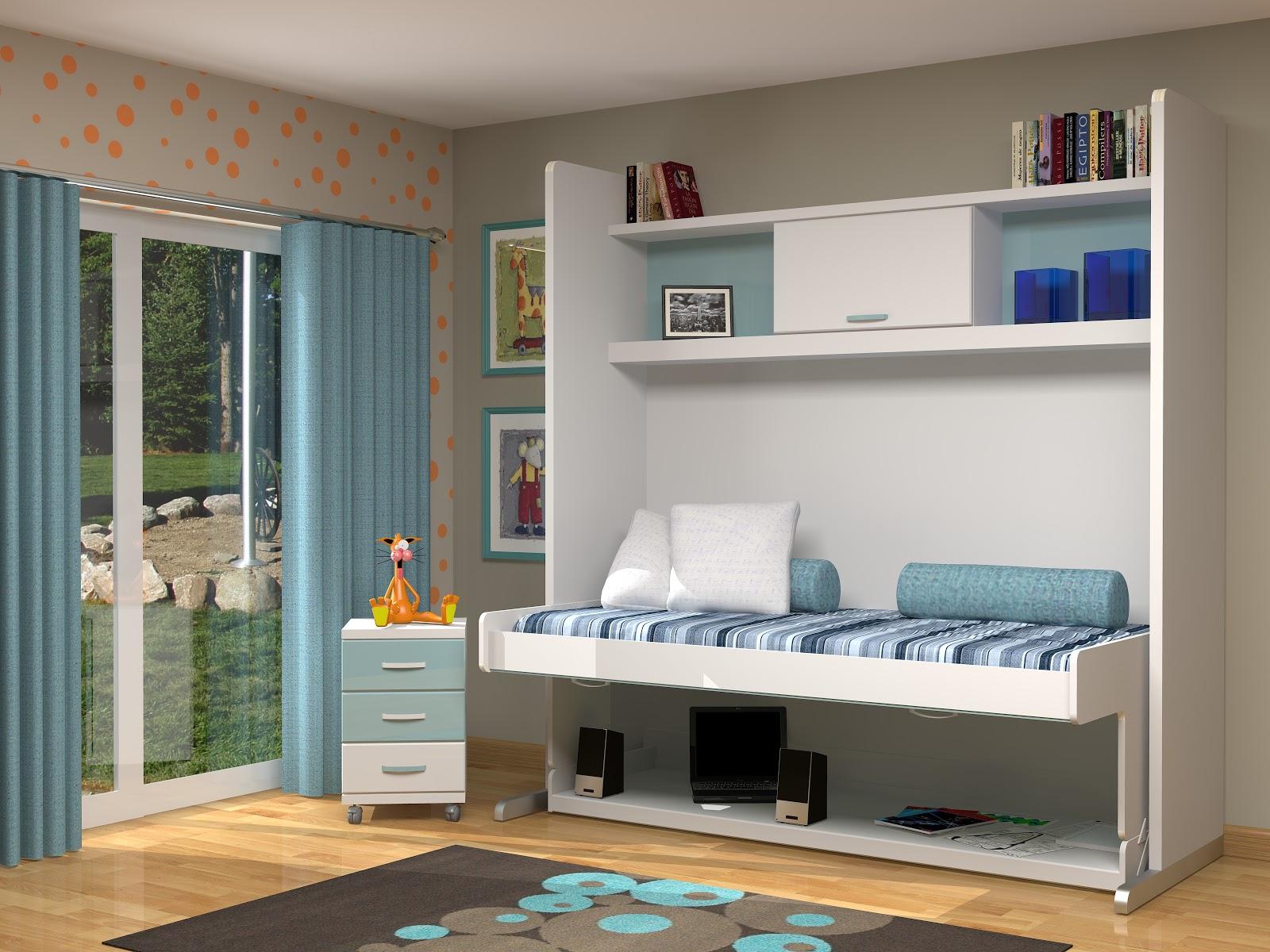 Muebles juveniles dormitorios infantiles y habitaciones for Cama puente con escritorio