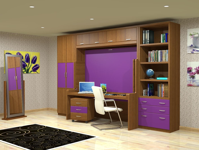 Cama mesa abatible camas autoportantes cama con - Muebles espacios reducidos ...