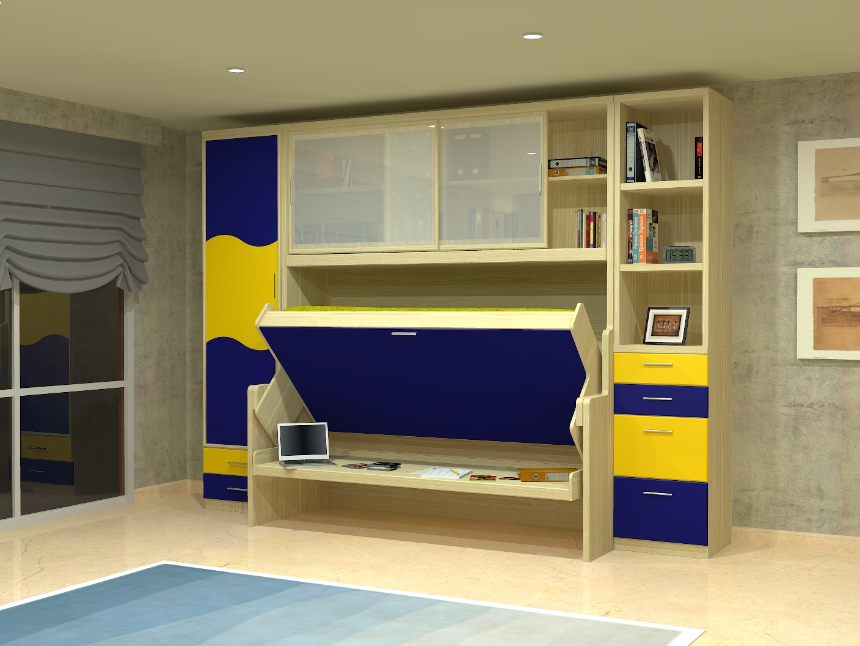 Cama mesa abatible camas autoportantes cama escritorio - Camas abatibles juveniles para espacios reducidos ...