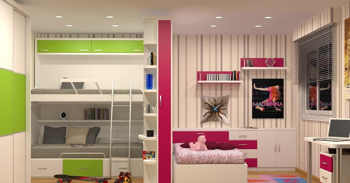 Tienda dormitorios juveniles decoraci n integral para tu - Habitaciones juveniles camas abatibles horizontales ...