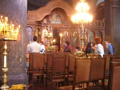 Inside Yambol's St Nikolai Church