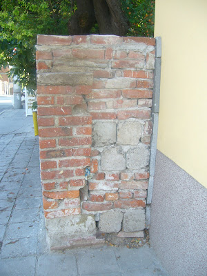 A Brick Wall Built On A Yambol Street - Why?