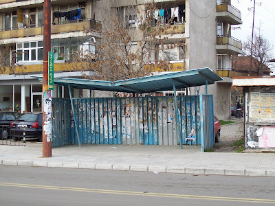 A Typical Yambol Bus Shelter