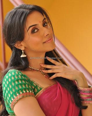 Asin cute in half saree stills