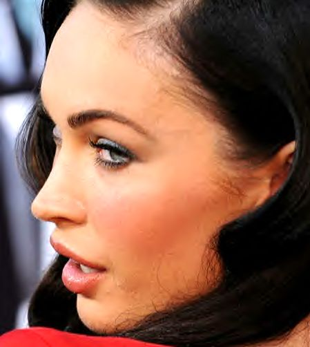 megan fox plastic surgery lips. Megan Fox appeared in London