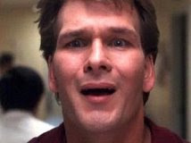 The Top 20 Stupid Faces Made By Patrick Swayze In Ghost