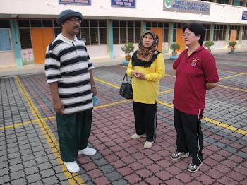 YDP PIBG En Marhalim with pengetua SMKBS Pn Hapsah Safian