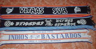 BUFANDAS SERIGRAFIADAS AÑOS 80 (Ultras Sur, Brigadas Ultras Español, Indios Bastardos U.S)