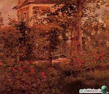 Manet El jardin de Bellevue 1880