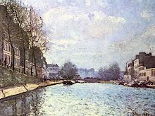 Alfred Sisley Vista del canal de Saint Martin 1870