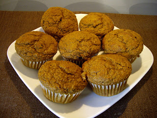 pumpkin - bran muffins