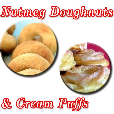Nutmeg+doughnut+%26+cream+puffpng